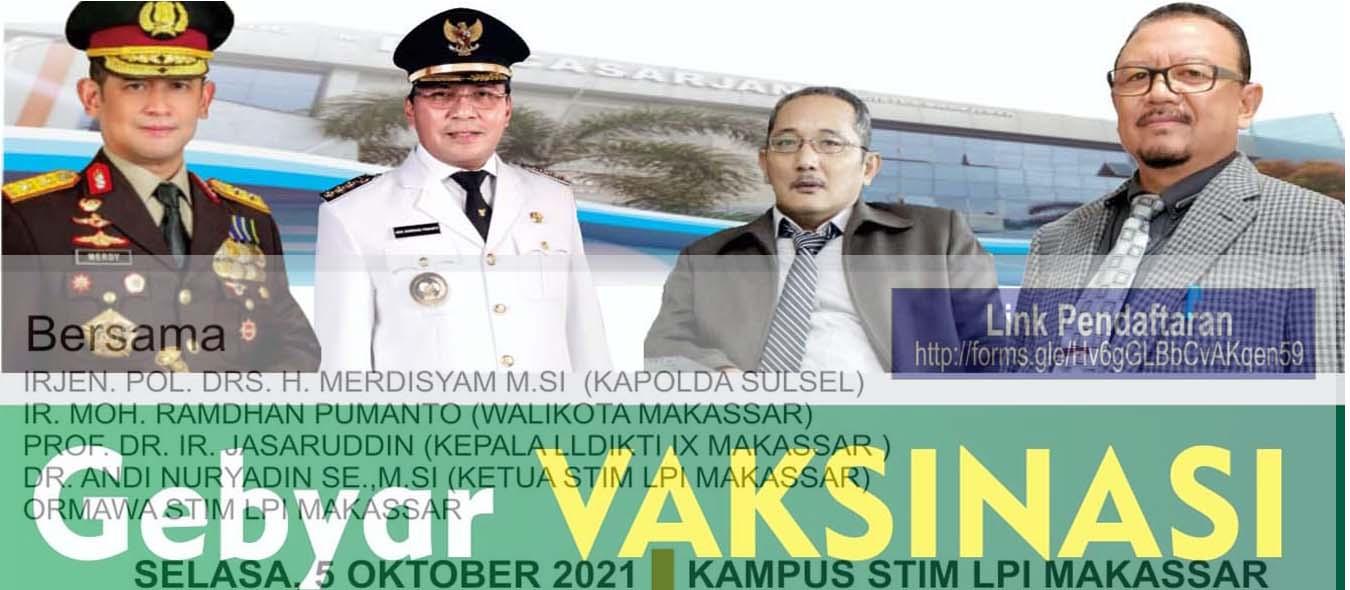 Gebyar Vaksinasi STIM-LPI Makassar